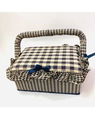 Κουτί Ραπτικής Μπλε Καρό